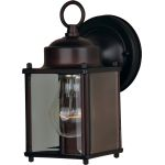 "Side Door Collection 1-Light 4"" Oil Rubbed Bronze Outdoor Wall Light with Clear Glass 6879CLOI"