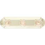 "Essentials Collection 3-Light 18"" Polished Brass Vanity 7123PB"