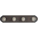 "Essentials Collection 4-Light 24"" Oil Rubbed Bronze Vanity 7124OI"