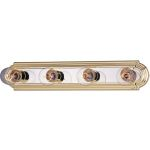 "Essentials Collection 4-Light 24"" Polished Brass/Chrome Vanity 7124PB/PC"