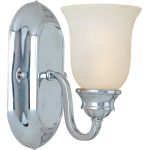 "Essentials Collection 1-Light 5"" Polished Chrome Wall Sconce with Marble Glass 7135MRPC"