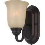 "Essentials Collection 1-Light 5"" Oil Rubbed Bronze Wall Sconce with Wilshire Glass 7135WSOI"