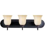 "Essentials Collection 3-Light 24"" Oil Rubbed Bronze Vanity with Wilshire Glass 7137WSOI"