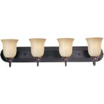 "Essentials Collection 4-Light 30"" Oil Rubbed Bronze Vanity with Wilshire Glass 7138WSOI"