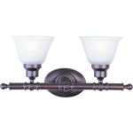 "Essentials Collection 2-Light 19"" Oil Rubbed Bronze Vanity with Frosted Glass 7142FTOI"