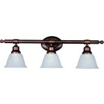 "Essentials Collection 3-Light 29"" Oil Rubbed Bronze Vanity with Frosted Glass 7143FTOI"