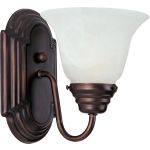 "Essentials Collection 1-Light 6"" Oil Rubbed Bronze Wall Sconce with Marble Glass 8011MROI"