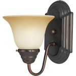 "Essentials Collection 1-Light 6"" Oil Rubbed Bronze Wall Sconce with Wilshire Glass 8011WSOI"