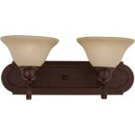 "Essentials Collection 2-Light 18"" Oil Rubbed Bronze Vanity with Wilshire Glass 8012WSOI"