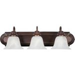 "Essentials Collection 3-Light 24"" Oil Rubbed Bronze Vanity with Marble Glass 8013MROI"