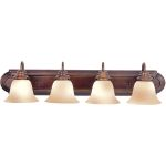 "Essentials Collection 4-Light 30"" Oil Rubbed Bronze Vanity with Wilshire Glass 8014WSOI"