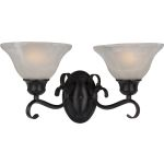 "Pacific Collection 2-Light 16"" Kentucky Bronze Vanity with Marble Glass 8020MRKB"