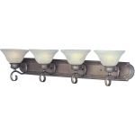 "Pacific Collection 4-Light 36"" Pewter Vanity with Marble Glass 8024MRPE"