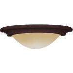"Pacific Collection 1-Light 16"" Kentucky Bronze Wall Sconce with Wilshire Glass 8025WSKB"