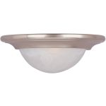 "Pacific Collection 1-Light 13"" Satin Nickel Wall Sconce with Marble Glass 8026MRSN"
