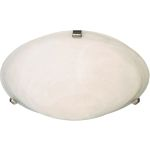 "Malibu Collection 3-Light 16"" Satin Nickel Flush Mount with Marble Glass 82681MRSN"