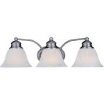 "Malibu Collection 3-Light 19"" Satin Nickel Vanity with Marble Glass 82688MRSN"