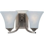"Aurora Collection 2-Light 13"" Satin Nickel Wall Sconce with Frosted Glass 83099FTSN"