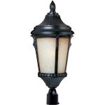 "Odessa Collection 1-Light 20"" Espresso Outdoor Pier/Post Mount with Latte Glass 85010LTES"