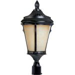 "Odessa Collection 1-Light 24"" Espresso Outdoor Pier/Post Mount with Latte Glass 85011LTES"