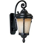"Odessa Collection 1-Light 9"" Espresso Outdoor Wall Light with Latte Glass 86014LTES"