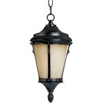 "Odessa Collection 1-Light 11"" Espresso Outdoor Hanging Light with Latte Glass 85019LTES"
