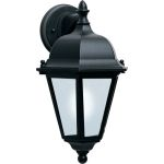 "Westlake Collection 1-Light 15"" Black Outdoor Wall Light with Frosted Glass 85100BK"