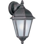 "Westlake Collection 1-Light 15"" Rust Patina Outdoor Wall Light with Frosted Glass 85100RP"