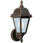 "Westlake Collection 1-Light 15"" Rust Patina Outdoor Wall Light with Frosted Glass 85102RP"