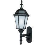 "Westlake Collection 1-Light 24"" Black Outdoor Wall Light with Frosted Glass 85103BK"