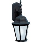 "Westlake Collection 1-Light 19"" Black Outdoor Wall Light with Frosted Glass 85104BK"