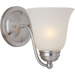"Basix Collection 1-Light 6"" Satin Nickel Wall Sconce with Ice Glass 85131ICSN"