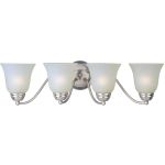 "Basix Collection 4-Light 27"" Satin Nickel Vanity with Ice Glass 85134ICSN"