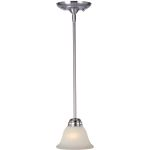 "Basix Collection 1-Light 6"" Satin Nickel Mini Pendant with Ice Glass 85139ICSN"