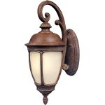 "Knob Hill Collection 1-Light 13"" Sienna Outdoor Wall Light with Snow Flake Glass 85466SFSE"