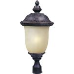 "Carriage House Collection 1-Light 26"" Oriental Bronze Outdoor Pier/Post Mount with Mocha Glass 85520MOOB"