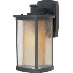 "Bungalow Collection 1-Light 7"" Bronze Outdoor Wall Light with Seedy/Wilshire Glass 85653CDWSBZ"
