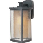 "Bungalow Collection 1-Light 8"" Bronze Outdoor Wall Light with Seedy/Wilshire Glass 85654CDWSBZ"
