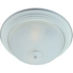"Flush Mount Collection 3-Light 15"" Textured White Flush Mount with Frosted Glass 85832FTTW"