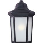 "Side Door Collection 1-Light 7"" Black Outdoor Wall Light with Frosted Glass 85928BK"