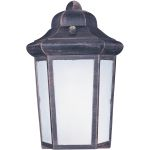 "Side Door Collection 1-Light 7"" Rust Patina Outdoor Wall Light with Frosted Glass 85928RP"