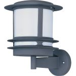 "Zenith Collection 1-Light 9"" Architectural Bronze Outdoor Wall Light with White Glass 86194WTABZ"