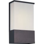 "Zenith Collection 2-Light 8"" Architectural Bronze Outdoor Wall Light with White Glass 86195WTABZ"