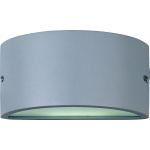"Zenith Collection 1-Light 10"" Platinum Outdoor Wall Light with White Glass 86197WTPL"