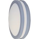 "Zenith Collection 1-Light 10"" Platinum Outdoor Wall Light with White Glass 86206WTPL"
