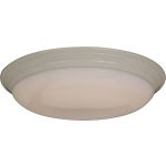"Classic Collection 2-Light 22"" White Flush Mount with White Glass 87017WT"