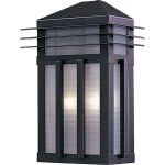 "Gatsby Collection 2-Light 9"" Burnished Outdoor Wall Light with Prairie Rib Frost Glass 8723PRBU"