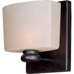 "Essence Collection 1-Light 5"" Oil Rubbed Bronze Vanity with Dusty White Glass 9001DWOI"