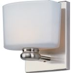 "Essence Collection 1-Light 5"" Satin Nickel Vanity with Satin White Glass 9001SWSN"