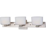 "Essence Collection 3-Light 22"" Satin Nickel Vanity with Satin White Glass 9003SWSN"